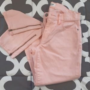 🌞3/$25🎉 Baby Pink Jeans with Zippered Ankles